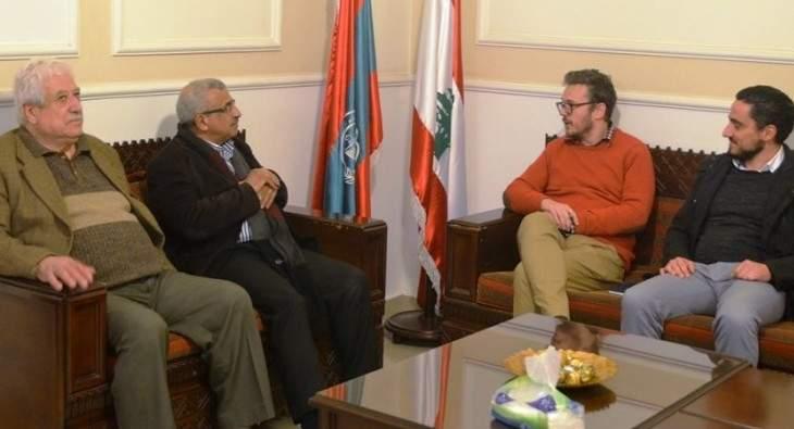 سعد بحث مع منسق الأمم المتحدة في لبنان بأوضاع اللاجئين الفلسطينيين وخدمات الأونروا
