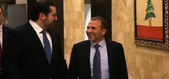 مصادر باسيل للنشرة: الاجتماع مع الحريري ممتاز والاتفاق السياسي بينهما ثابت