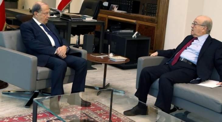 الرئيس عون اطلع من قباني على اقتراح قانون هيئة ادارة مخاطر الكوارث
