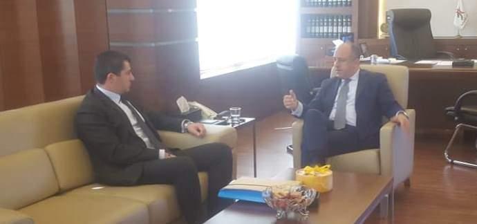 بو عاصي عرض مع لحود جديد ملف القروض السكنية المدعومة والتقى سفير بريطانيا
