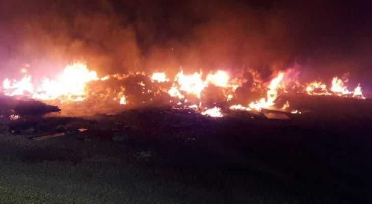 النشرة: إخماد حريق قرب شركة الغاز في صيدا