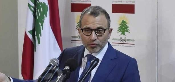 باسيل التقى ديفيد هيل وأبلغه بأن لبنان متمسك بحدوده ولا يفرط بذرة منها