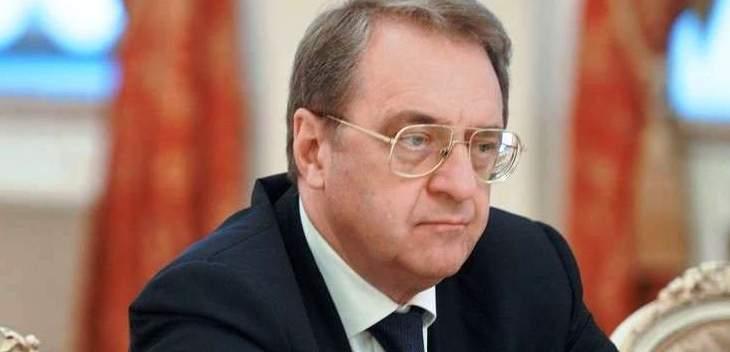 بوغدانوف وصل إلى السودان حاملا رسالة من بوتين للبشير