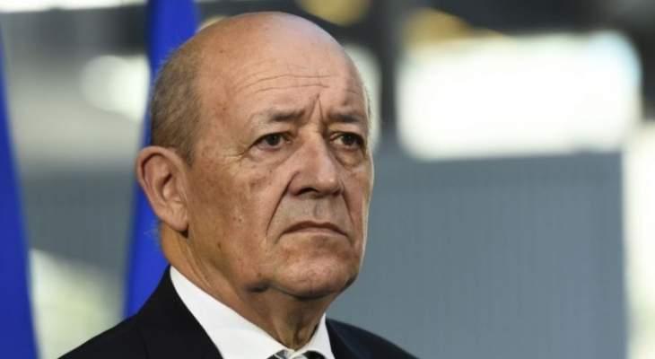 لودريان: طلبنا من إسرائيل عدم مهاجمة لبنان قبل تشكيل الحكومة اللبنانية