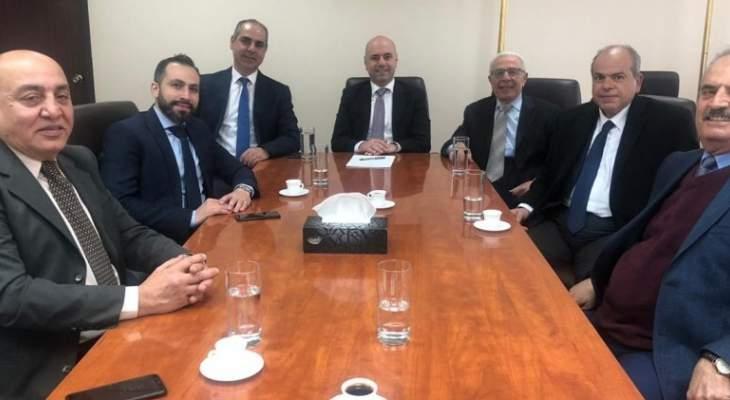 حاصباني التقى وفد الرابطة اللبنانية للروم الأرثوذكس