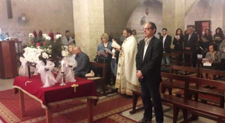 النشرة: الأب حداد ترأس قداس الجمعة العظيمة بحاصبيا ودعا للوحدة والمحبة
