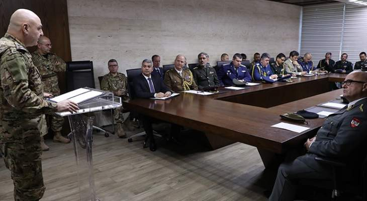قائد الجيش يستقبل وفد رابطة الملحقين العسكريين المعتمدين في لبنان