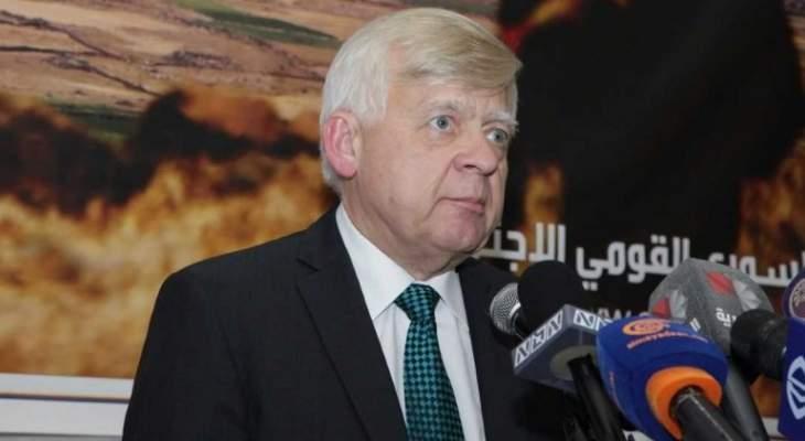 زاسبيكين: نواصل جهودنا المشتركة في سوريا لتهدئة الأوضاع والقضاء على الإرهاب