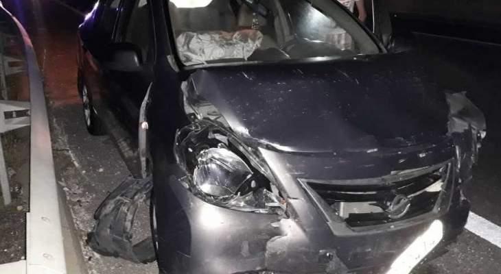 ثلاثة جرحى بحادث سير على اوتوستراد الغازية
