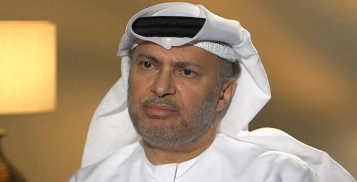 قرقاش: مبعث قلقنا الأساسي هو مستقبل العملية السياسية في اليمن
