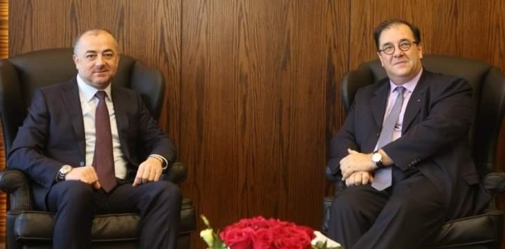 بو صعب بحث مع فوشيه بالعلاقات الثنائية ومع ديل كول بمسألة الأنفاق والتقى عبدالله ورفول
