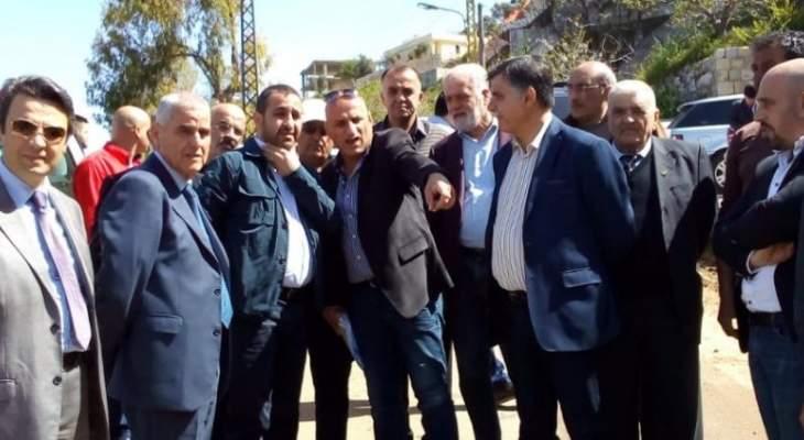 عطالله تفقد مشاريع تنفذها وزارة المهجرين في الشوف: لتثبيت العودة وتعزيز مقوماتها