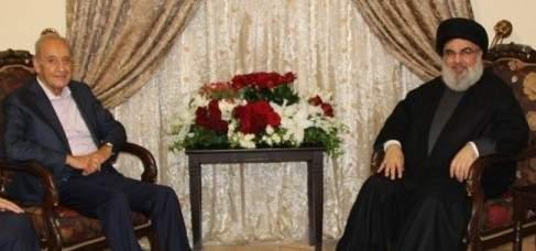 معلومات الجمهورية: مسألة مكافحة الفساد تم التفاهم عليها بين بري ونصرالله