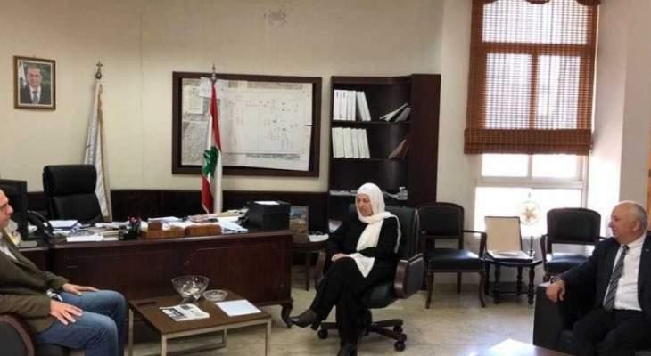 الحريري زارت مؤسسة مياه لبنان الجنوبي وعرضت مع ضاهر المشاريع المائية المستقبلية