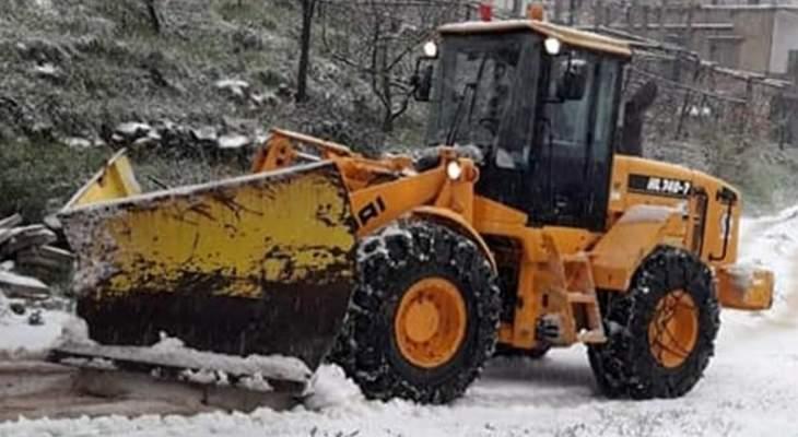 الدفاع المدني: تسهيل حركة المرور على طرقات المتن الشمالي التي غمرتها الثلوج