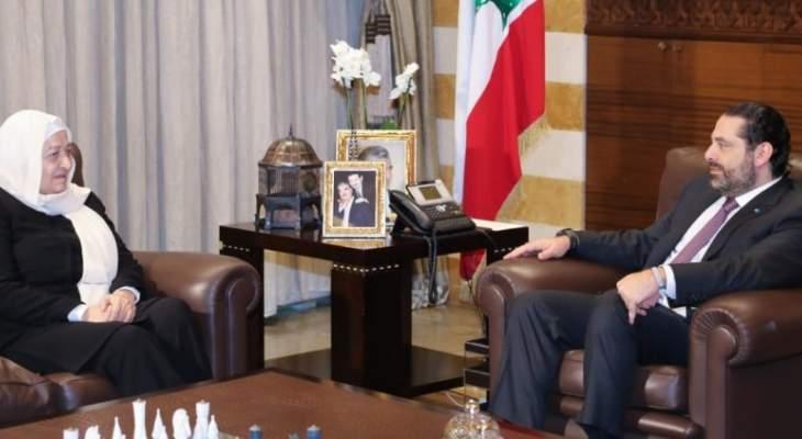 الحريري عرض مع ديل كول للأوضاع بالجنوب والتقى بهية الحريري وفتفت وزوارا