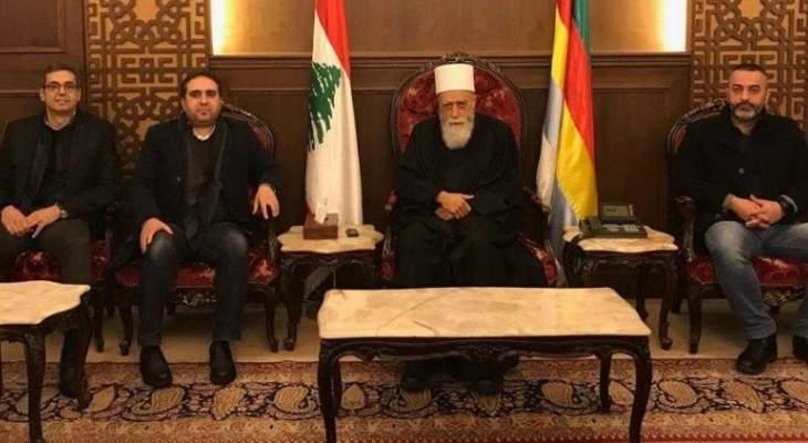 الشيخ حسن استقبل ظافر ناصر وعرض معه مجمل التطورات