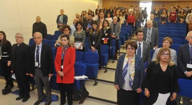"""جامعة الروح القدس نظمت مؤتمرا عن """"الكتابة والجيوسياسية بالعالم العربي والمتوسطي المعاصر"""""""