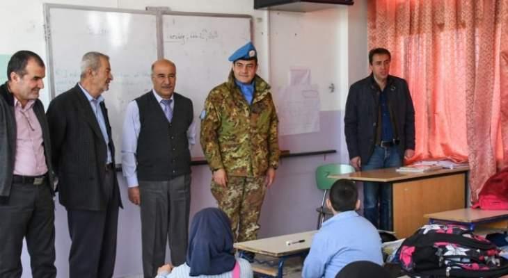 جولة لقائد القطاع الغربي لليونيفيل في مدرسة الرمادية الرسمية