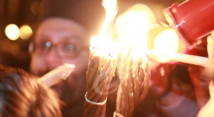 استقبال حاشد لشعلة النور المقدس في قرى عكار