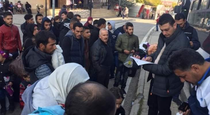 عودة 317 نازحا إلى سوريا من لبنان عبر معبري جديدة يابوس وتلكلخ