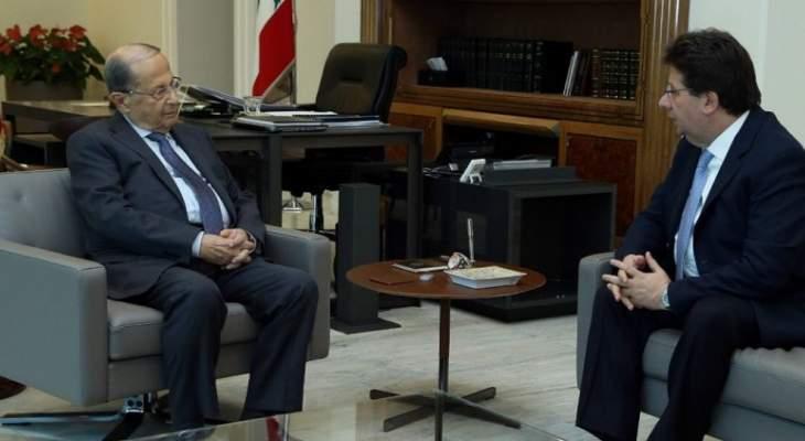 الرئيس عون اطلع من كنعان على زيارة الوفد النيابي الى الولايات المتحدة