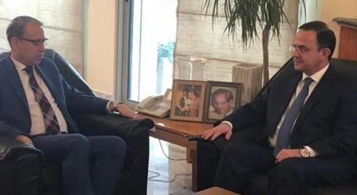 كيدانيان زار سفير مصر معتذرا واكد حرصه على العلاقات الثنائية