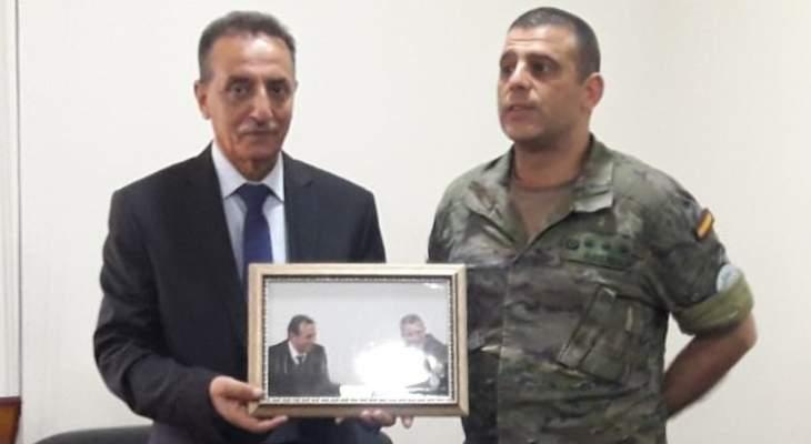 النشرة: زيارة وداعية بين قائمقام حاصبيا وقائد أركان الكتيبة بالونيفيل