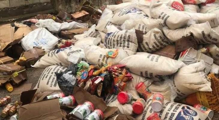 وزارة الإقتصاد: ضبط مستودعين في برج حمود والغبيري يحتويان على مواد منتهية الصلاحية