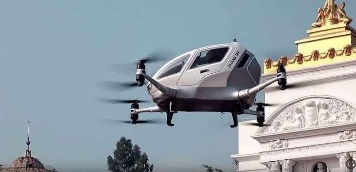 اختبار أول تاكسي طائر ذاتي القيادة في الصين