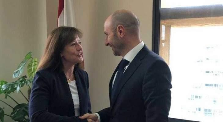 جريصاتي أطلع السفيرة الاميركية على خطط وزارة البيئة للنفايات والمقالع