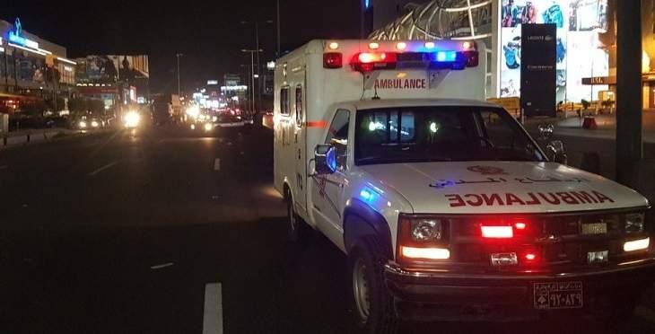 الدفاع المدني: قتيل جراء حادث سير على أوتوستراد الضبية