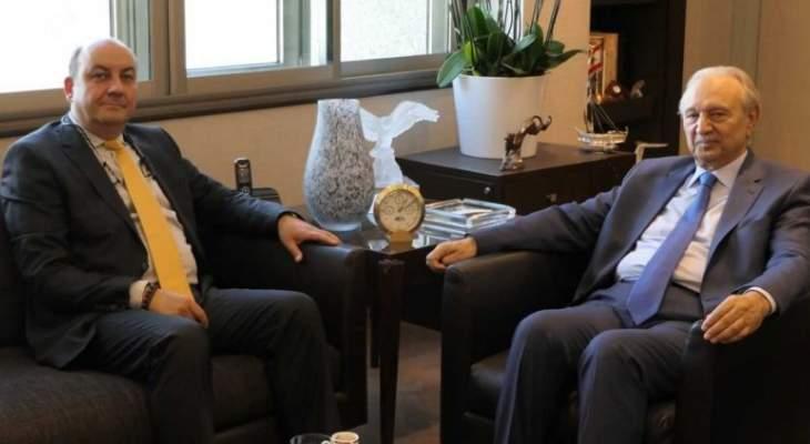 الصفدي التقى السفير التركي وعرض معه تعزيز التعاون في المشاريع التنموية