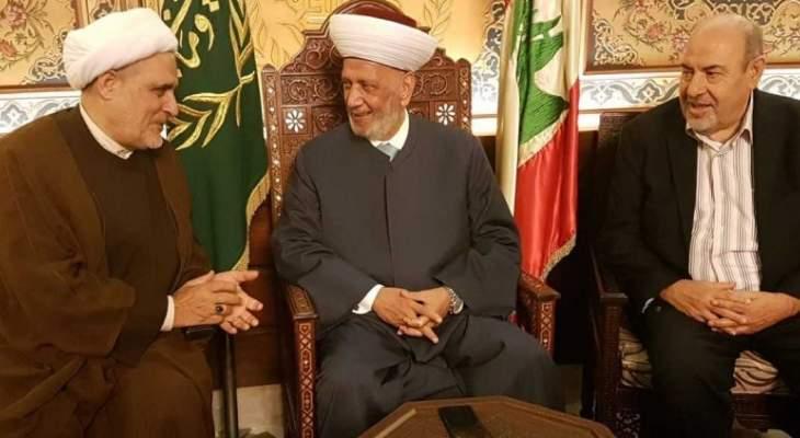 الشيخ المصري بعد لقائه دريان:اتفقنا على ضرورة العمل الجاد لقيام حكومة وحدة وطنية جامعة