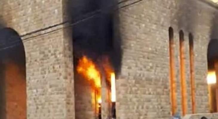 اندلاع حريق كبير في كنيسة السيّدة في بعبدات