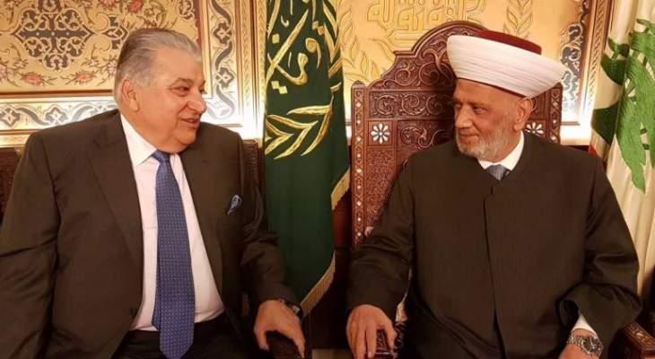 دريان التقى مطرجي ووفدا من المجلس النسائي اللبناني