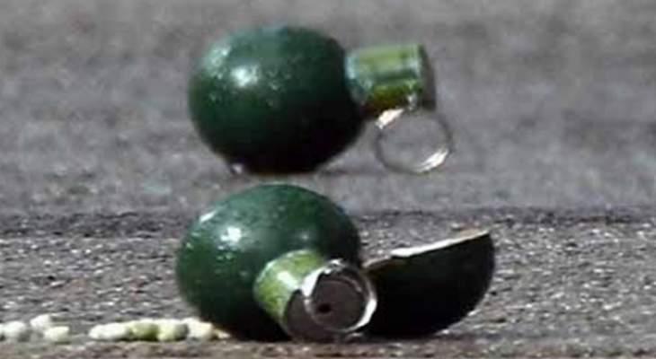 العثور على قنبلة صوتية في مخيم البداوي