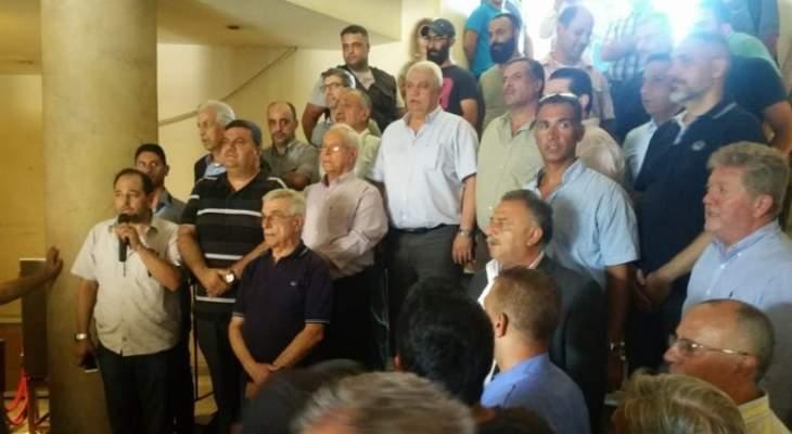 قمرالدين خلال اعتصام تضامني معه:نحن نقوم بقمع التعديات وطرابلس لا يمكن أن تركع