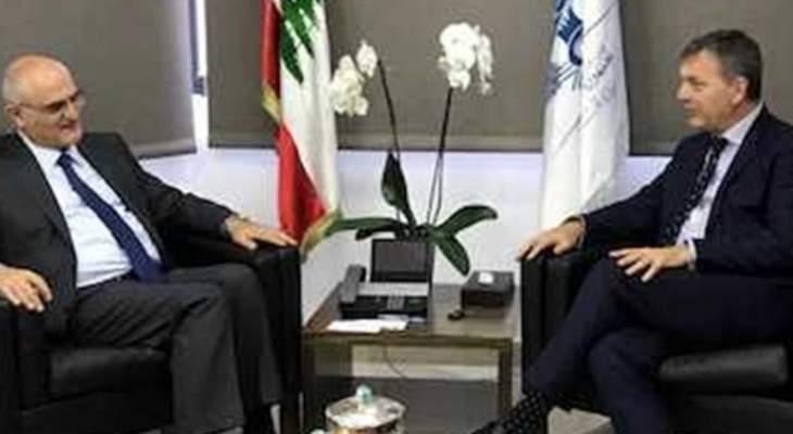 علي حسن خليل بحث مع لازاريني الأوضاع الاقتصادية والمالية