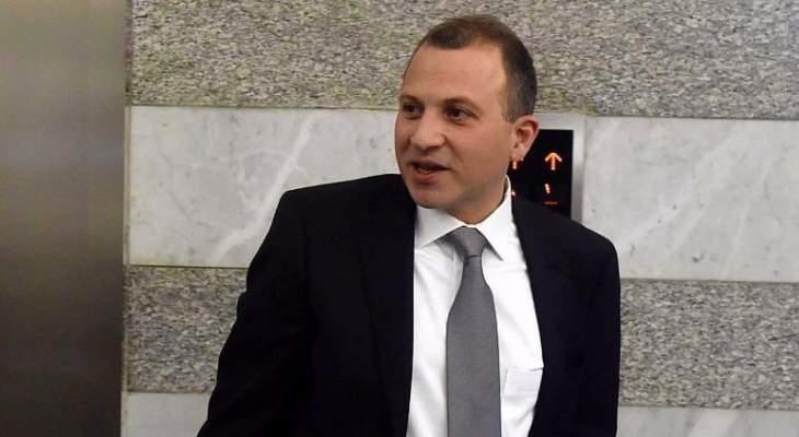 باسيل: ما حصل هذا العام سباق اللبنانيين من اجل استعادة لبنان ورئيس حكومته