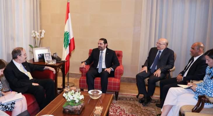 الحريري عرض ورئيس لجنة الشؤون الخارجية في الكونغرس الاوضاع في لبنان والمنطقة
