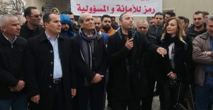 اعتصام في بر الياس تضامنا مع الجمال الموقوف في قضية تزوير شهادات