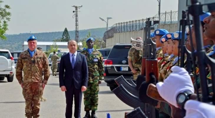 اليونيفيل: بو صعب زار مقر اليونيفيل في الناقورة وجال على الخط الأزرق