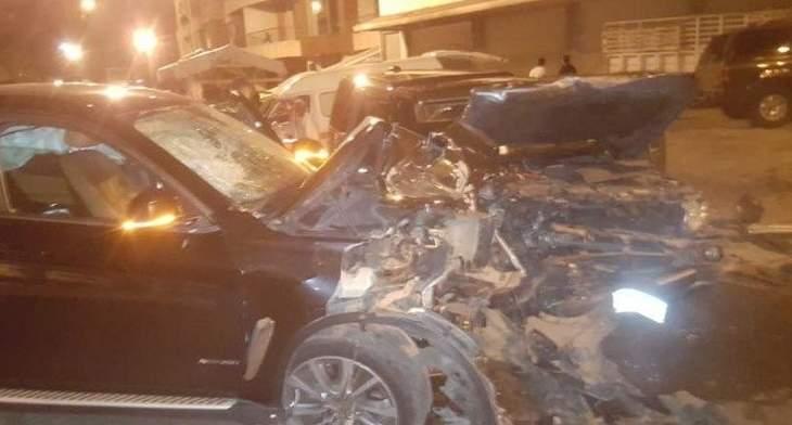 سقوط 6 جرحى بحادث سير على طريق عام حراجل