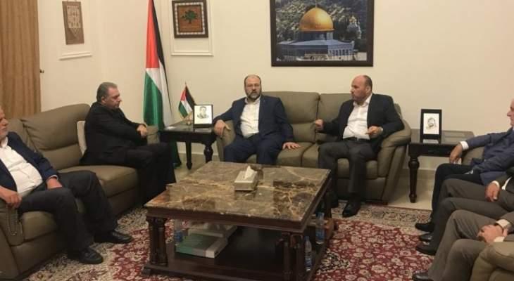 حماس تلتقي في سفارة دولة فلسطين  قيادة حركة  فتح في لبنان