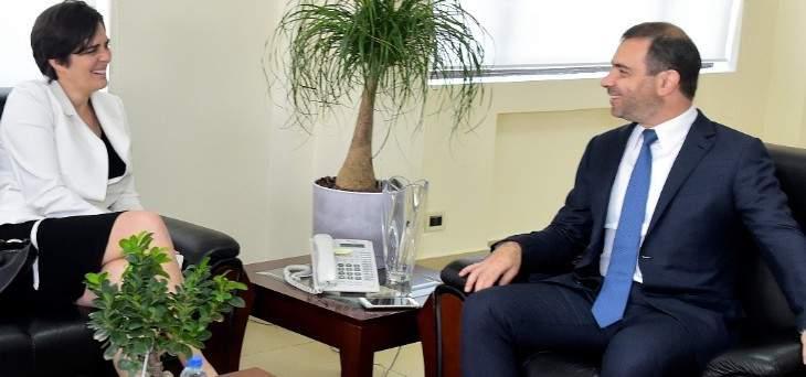 أفيوني يبحث ولامورو سبل التعاون التكنولوجي بين لبنان و كندا