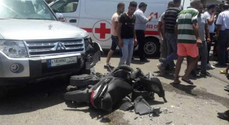النشرة: جريح في حادث سير  وقع على المدخل الشرقي لبلدة السكسكية