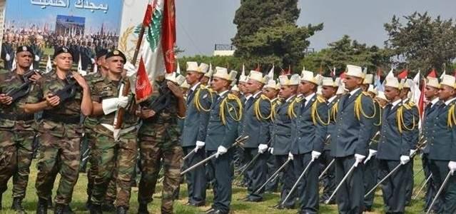 بدء مراسم الإحتفال بعيد الجيش في المدرسة الحربية في الفياضية