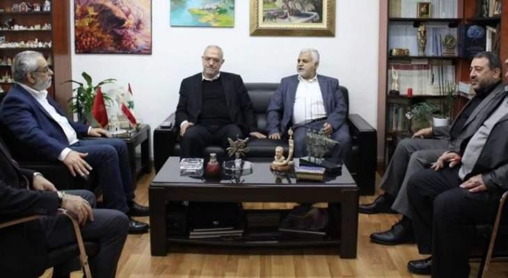 """بقرادونيان عرض الأوضاع السياسية مع وفد من """"حزب الله"""" برئاسة قماطي"""