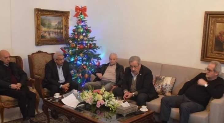 أسامة سعد التقى وفدا من حركة مواطنون ومواطنات في دولة